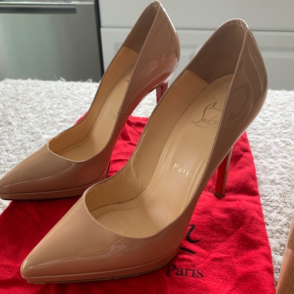 brand new ad858 8bd21 AUTH Christian Louboutin Pigalle Plato 120 Nude 36